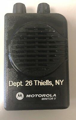 Motorola Minitor V Pager - Uhf 470-477.9875 Mhz 1 Channel Wcharger 5