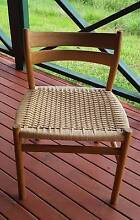 BORGE MOGENSON DANISH VINTAGE 50's OAK &PAPERCORD DINING CHAIRS East Lismore Lismore Area Preview