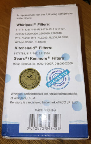 Pure H2O PH21220 Filter Replacement For Whirlpool Kitchenaid Kenmore New Sealed  - $17.13