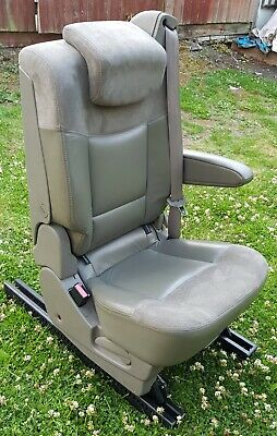 RENAULT GRAND ESPACE MK4 LEATHER SEAT WITH ARMREST RAILS & SPECIAL FIXING BOLTS