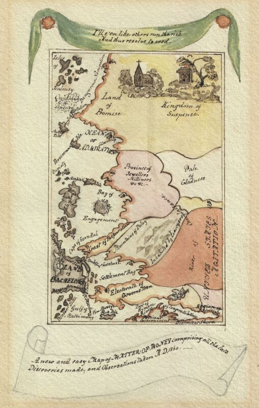 1840 Allegorical Map of the