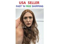 1//6 Elizabeth Olsen Scarlet Witch Head Sculpt w// RED EYES for Phicen❶USA stock❶