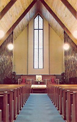 Scott Depot West Virginia Teays Valley Presbyterian Church Interior 1960S Pc