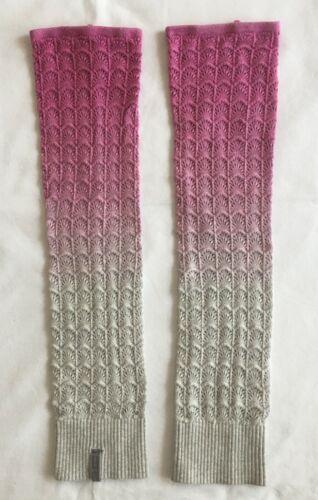 Lululemon Iviiva Girls Knit Leg Warmers Deep Pink Grey Dance Fitness Size XS