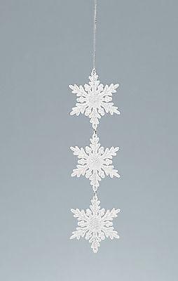 er-Schneeflocke Weihnachten Hängende Dekoration Baumschmuck (Weiße Schneeflocke Dekorationen)