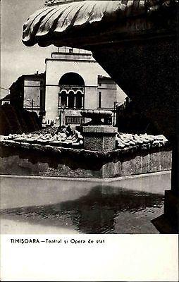 Timișoara Temeswar Rumänien s/w AK ~1950/60 Teatrul si Opera de stat Theater