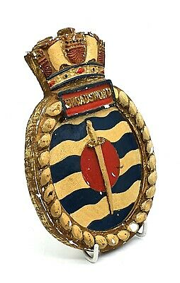 Antique coat of arms Broadsword plaster wall plaque - 1910's - very collectable