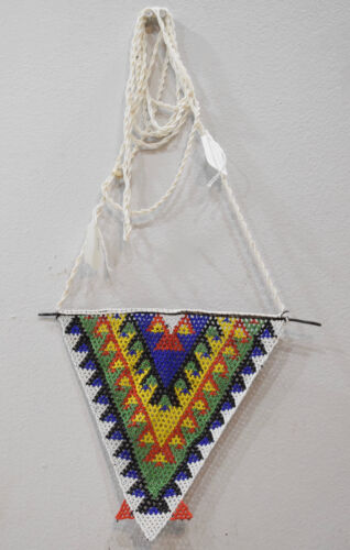 Necklace African Zulu Large Beaded Triangle Pendant Necklace