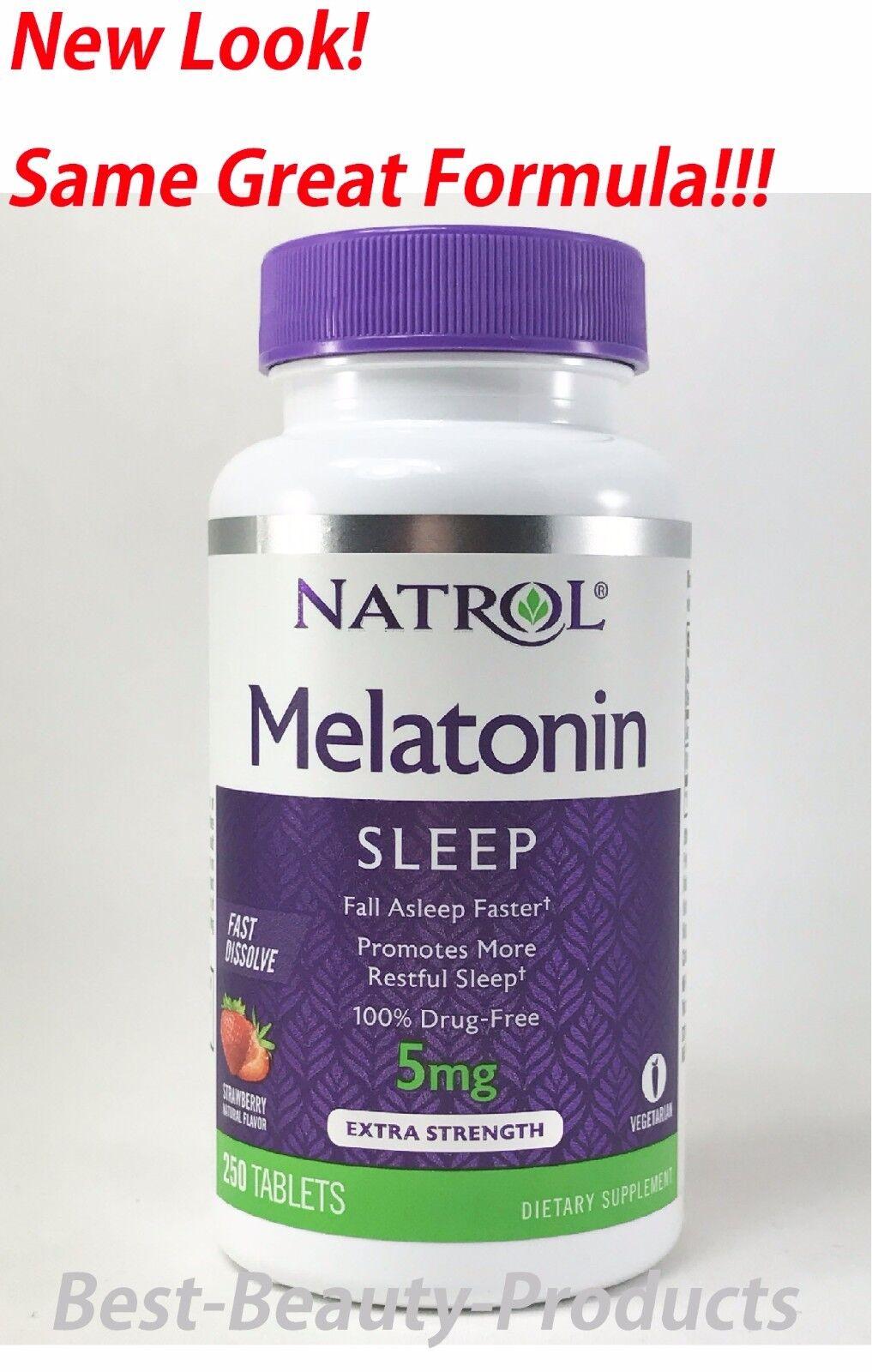 Natrol Melatonin 5 mg Fast Dissolve 250 Tablets - Strawberry Flavor