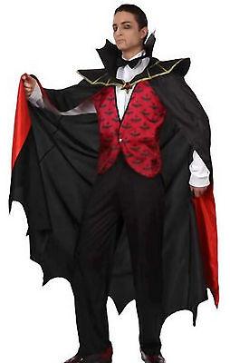 Gr.50/52 Vampir Kostüm Horror Faschingskostüm 4 Teile (Graf Dracula Kostüm)