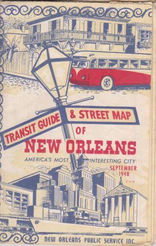 1948 City Street Map Of New Orleans Louisiana Brochure