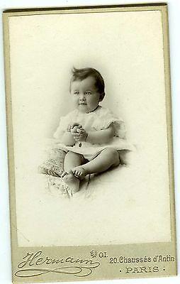 HERMANN Paris Michel Dubois pose circa 1910 PHOTO CDV mode jouet toy