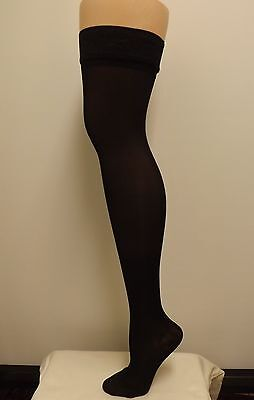 Sheer Thigh Highs, 15-20 mmHg  compression  w Stay up Lace Top Stockings 15 Mmhg Thigh High