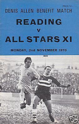 READING  V  ALL STARS XI  DENIS ALLEN BENEFIT MATCH  2/11/70