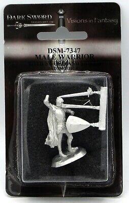 Dark Sword DSM-7347 Male Warrior with Sword and Shield (Tom Meier) Fighter Hero - Male Warrior