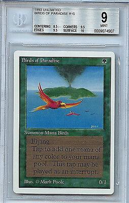 MTG Unlimited Birds of Paradise BGS 9.0 (9) Card Magic the Gathering WOTC