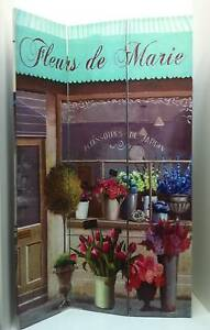 3 Fold Decorative Screen - Room Divider - Florist/Cafe Scene Bayswater Knox Area Preview
