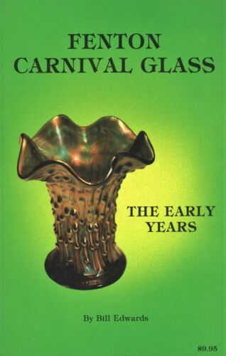 Vintage Fenton Carnival Glass Patterns Colors Values / Scarce Illustrated Book