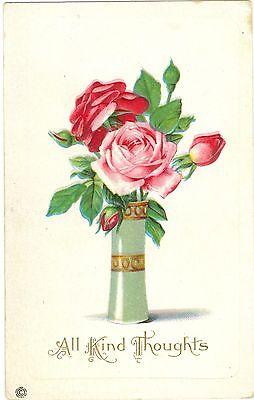 Blumen, Rosen, Prägekarte, um 1910
