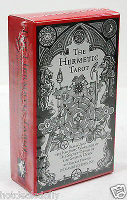 THE HERMETIC TAROT 78 CARD DECK BY GODFREY DOWSON SECRET ORDER GOLDEN DAWN NIB