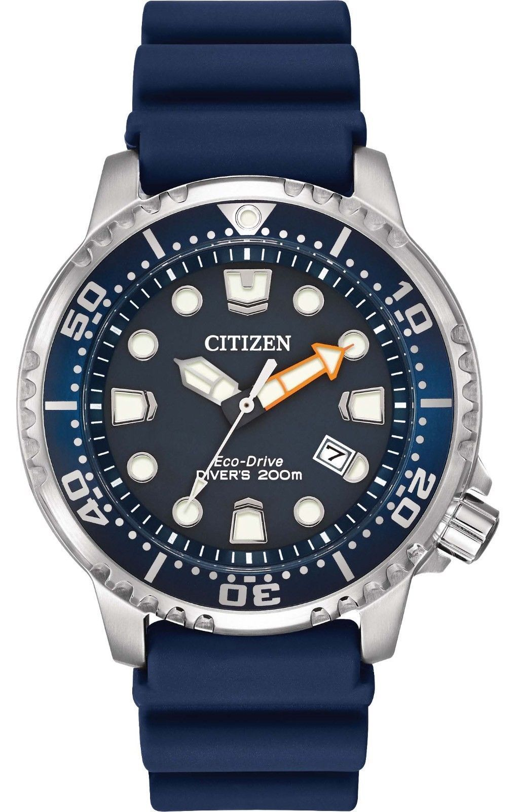 $177.00 - Citizen BN0151-09L Men's Promaster Professional Diver PU Band Blue Dial Watch