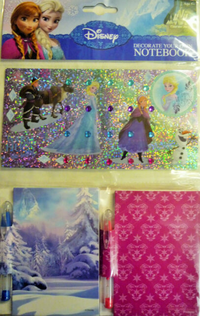 Disney Frozen Decorate your Own Notebooks (2 Note Books & Gel Pens, Gemstones)