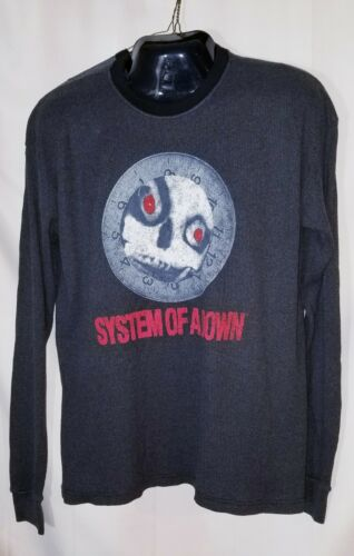System of A Down Mens Long Sleeve 2XL Thermal Shirt NEW  Licensed Merchandise