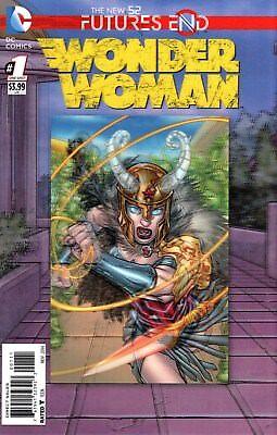 SUPERMAN WONDER WOMAN FUTURES END #1 3D LENTICULAR COVER 1ST PRINT DC COMICS