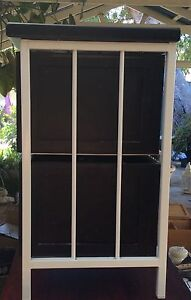 Bed side cabinet with black  drawers and white frame Safety Bay Rockingham Area Preview