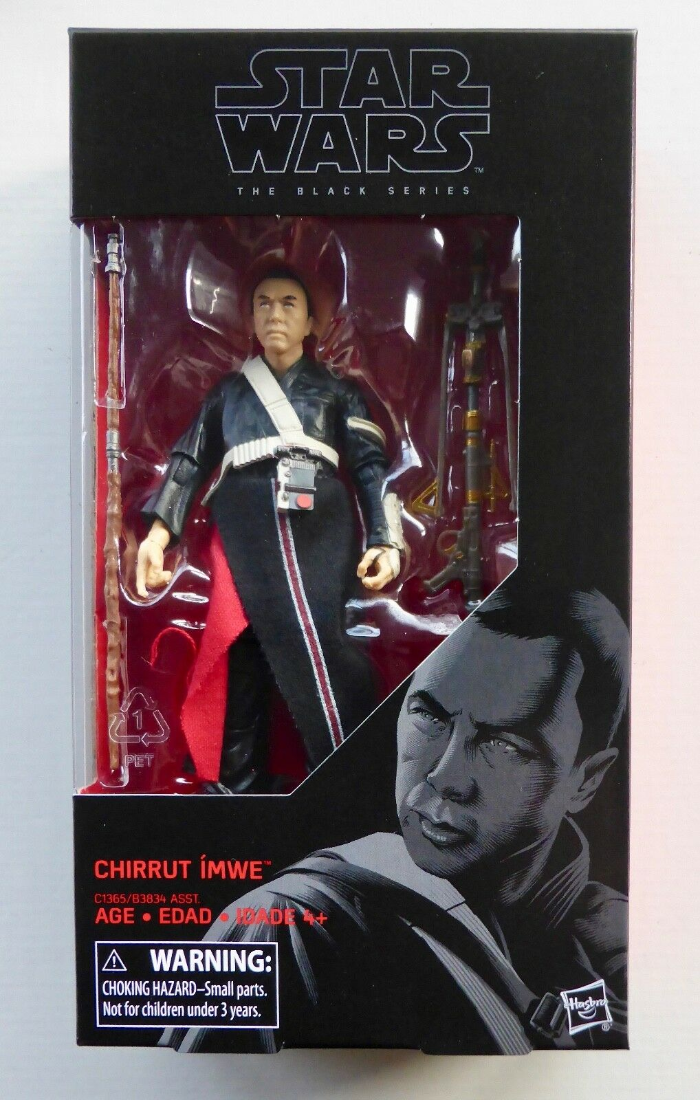 "STAR WARS BLACK SERIES 6/"" INCH WAVE 10 ROGUE ONE #36 CHIRRUT IMWE MIB"