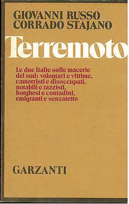 STAJANO RUSSO TERREMOTO GARZANTI 1981 I° EDIZ. MEMORIE DOCUMENTI BIOGRAFIE