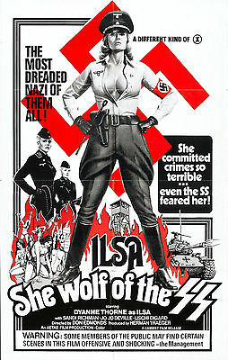 - ILSA SHE WOLF OF THE SS Movie Poster Naziploitation Nazi