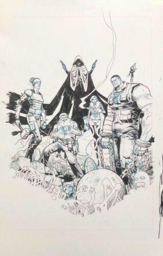 ILLUMINATI (2015) # 1 COVER ORIGINAL ART by RILEY ROSSMO RED HOOD Vs AVENGERS