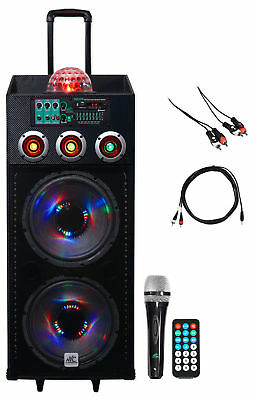 "NYC Acoustics Dual 12"" Karaoke Machine/System 4 ipad/iphone/Android/Laptop/TV"