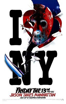 FRIDAY THE 13TH PART VIII 8 Jason Takes Manhattan Movie Poster Horror