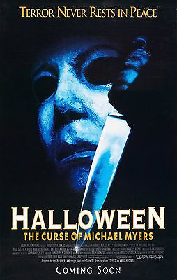 HALLOWEEN 6 The Curse of Michael Myers Movie Poster Horror  (Halloween Curses)