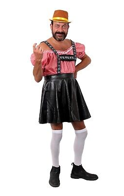 Oktober Fest Dress (MENS BAVARIAN STAG NIGHT OKTOBER FEST COSTUMES FUNNY BLACK FANCY DRESS BROWN)