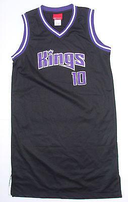 Mike Bibby #10 Sacramento Kings Black Large NBA Jersey Adult Team REEBOK shirt