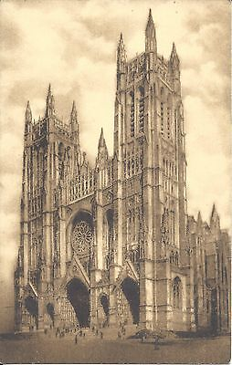 THE CATHEDRAL OF ST. JOHN THE DIVINE, NEW YORK - SEPIA POSTCARD - UNUSED