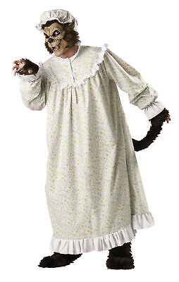 Elite Bad (Big Bad Wolf Elite Collection Adult Mens Costume Nightgown Scary Halloween)
