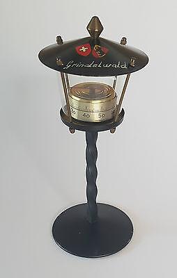 Thermometer Grindelwald Souvenir Schreibtischdekoration 60er Jahre Laterne