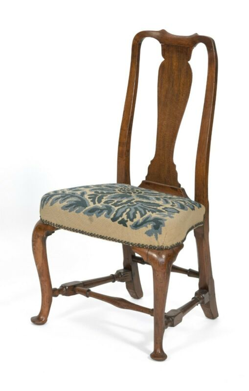 RARE Period 18TH C. ANTIQUE WALNUT BOSTON QUEEN ANNE DINING CHAIR C.1735-1760