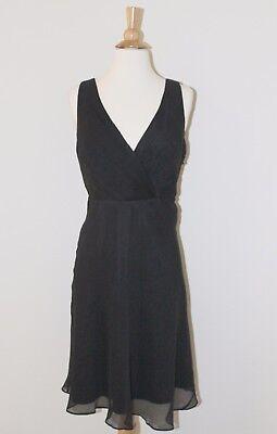 New J CREW Black EVIE DRESS In Silk Chiffon Sz 8 Style 43049 Bridesmaid Cocktail