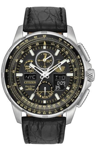 Citizen Men's Limited Edition Leather Skyhawk World Time A-T