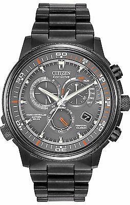 Citizen Eco Drive Mens At4117 56H Nighthawk A T Black Case Grey Dial Watch
