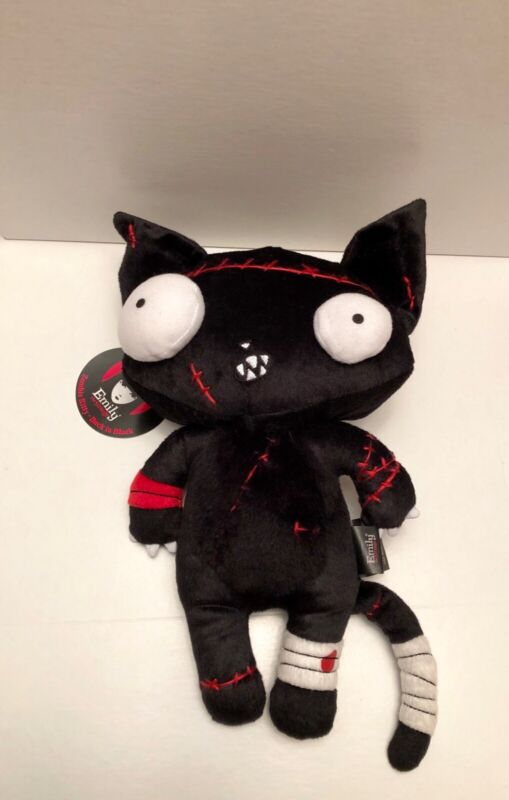 New! Limited Ed. Emily The Strange Zombie Kitty Back In Black Plush RARE 12 inch