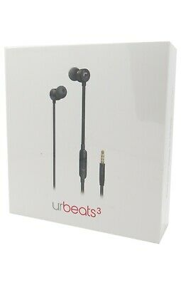 Beats by Dr. Dre urBeats3 Black In Ear Headphones 3.5mm Black MU982LL/A New