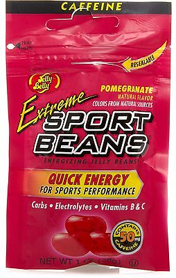 EXTREME POMEGRANATE SPORT BEANS Candy ~ Energizing ~ JELLY BELLY FRESH ~ 18 PACK - Sport Candy