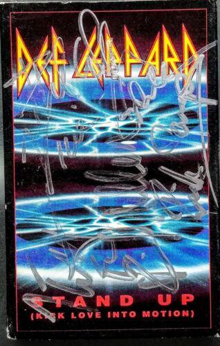 DEF LEPPARD SIGNED x5 Cassette Single