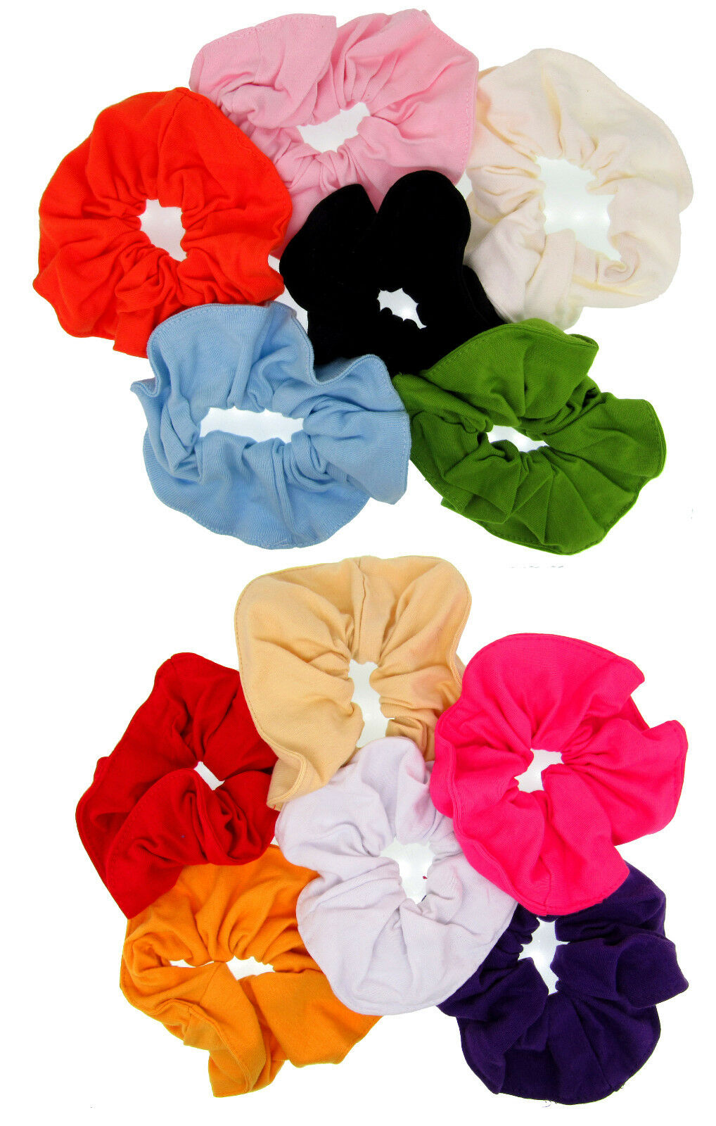 LOT OF 12 JUMBO COLORS SCRUNCHIES PONYTAIL TIE FABRIC BUN HAIR BOW DRESS HOLDER Clothing, Shoes & Accessories